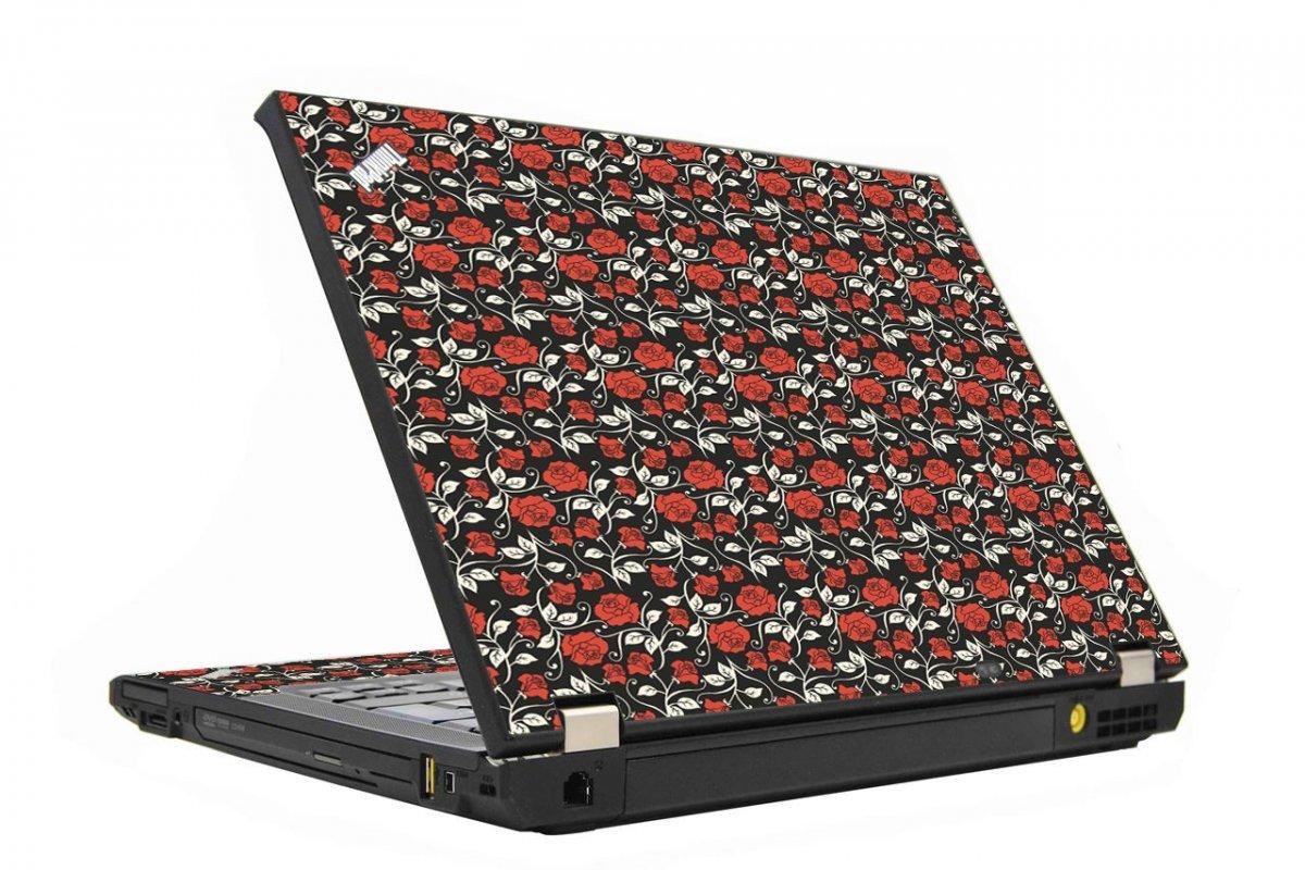 Black Red Roses IBM T410 Laptop Skin