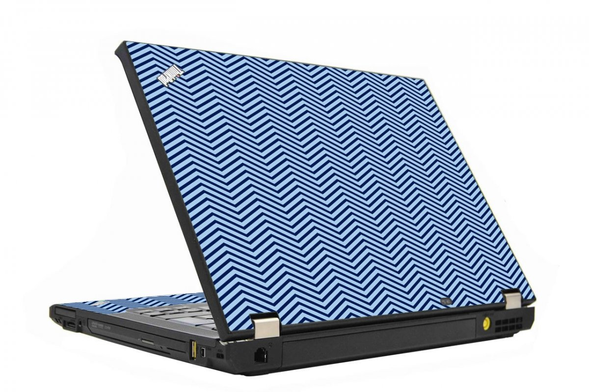 Blue On Blue Chevron IBM T410 Laptop Skin