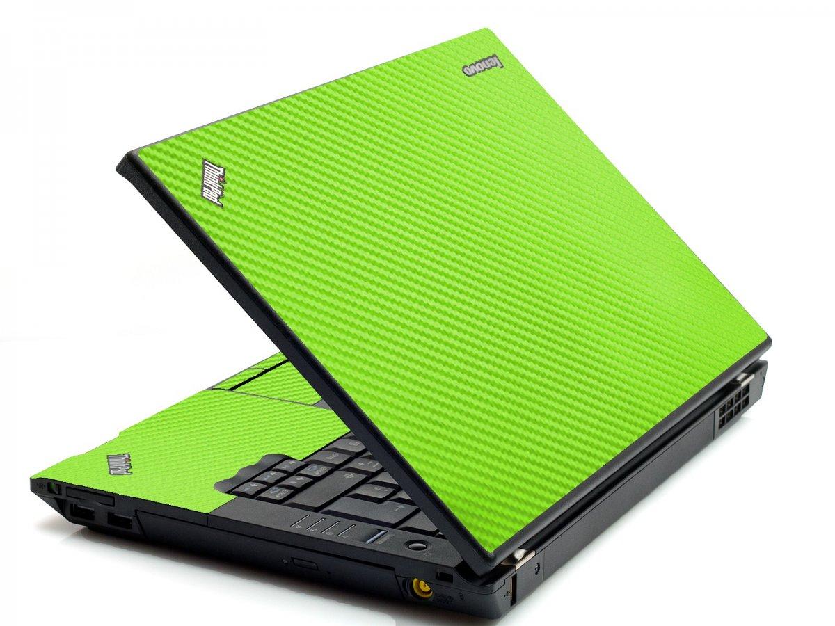 Green Carbon Fiber IBM T420 Laptop Skin