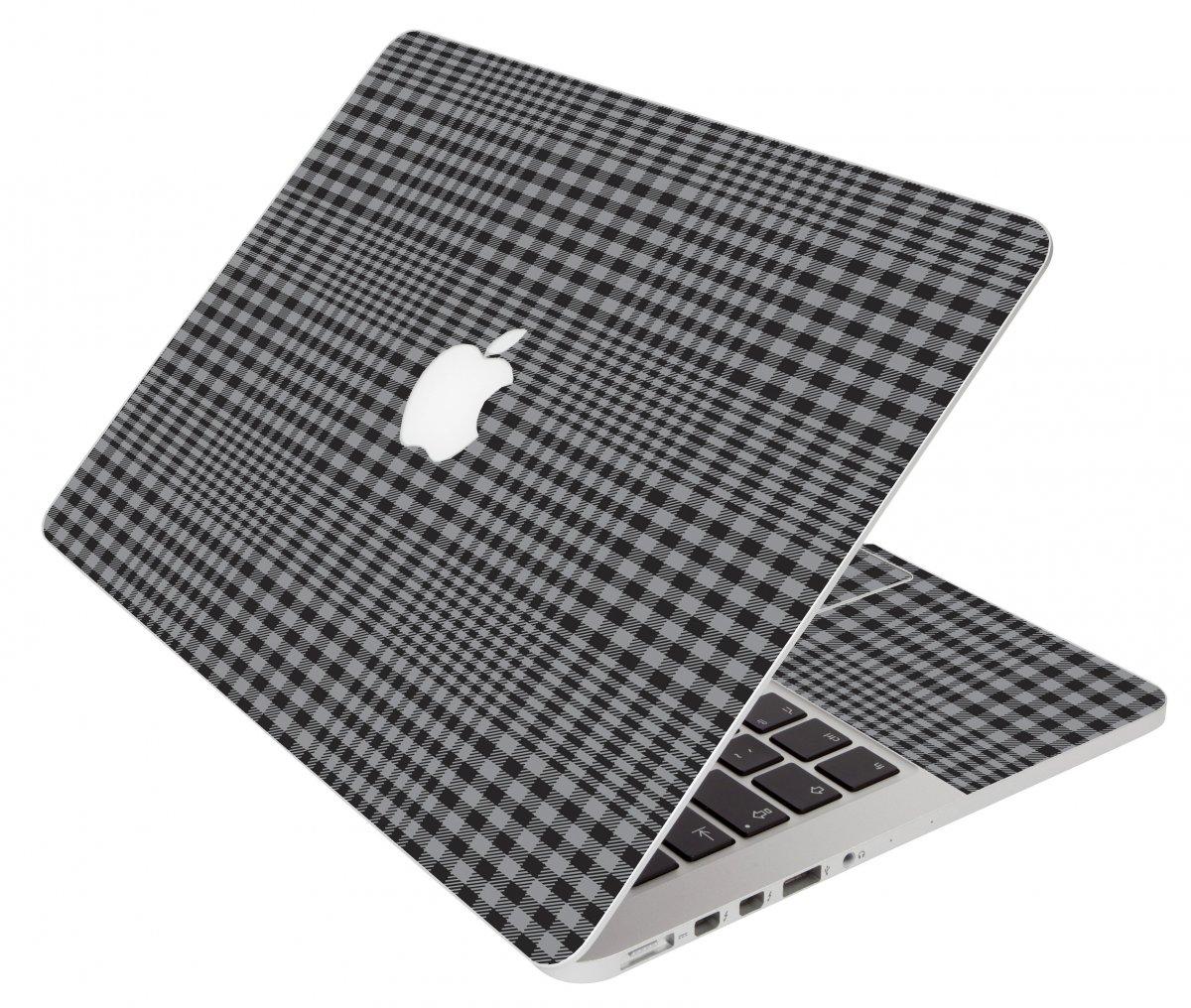Darkest Grey Plaid Apple Macbook Air 11 A1370 Laptop Skin