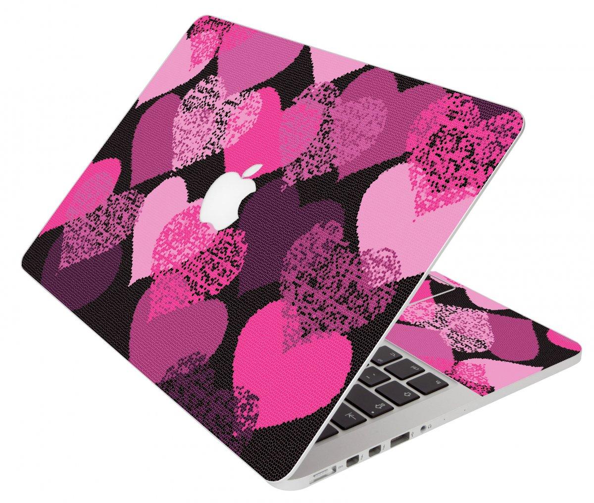 Pink Mosaic Hearts Apple Macbook Air 11 A1370 Laptop Skin