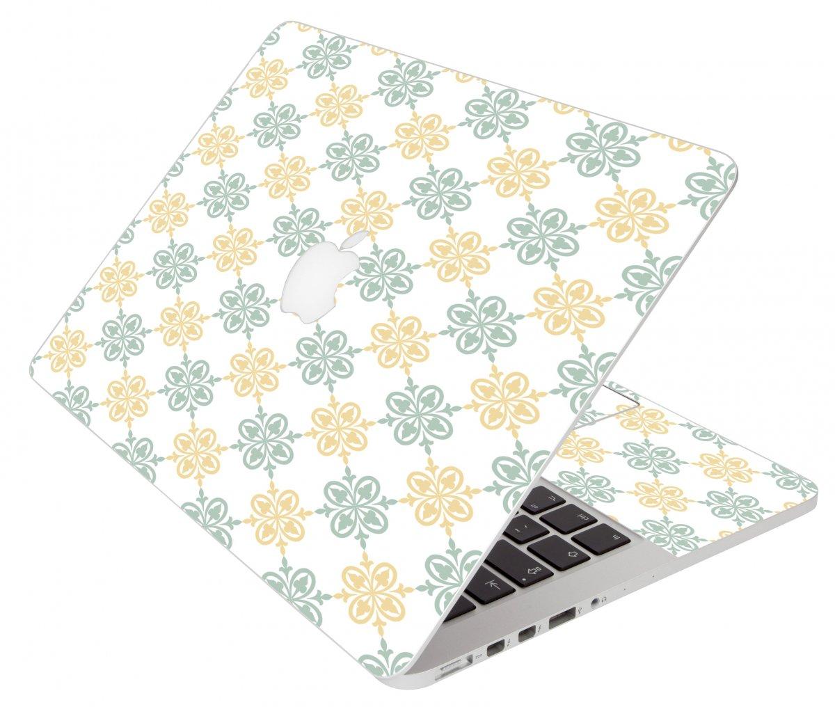 Yellow Green Flowers Apple Macbook Air 11 A1370 Laptop Skin