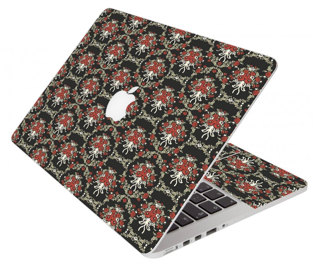 Black Flower Versailles Apple Macbook Air 13 A1466 Laptop Skin