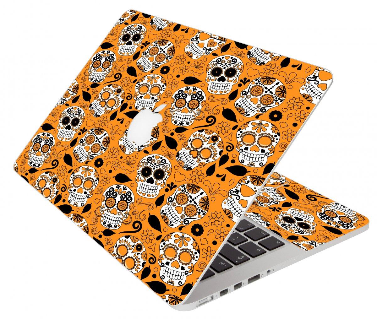 Orange Sugar Skull Apple Macbook Air 13 A1466 Laptop  Skin