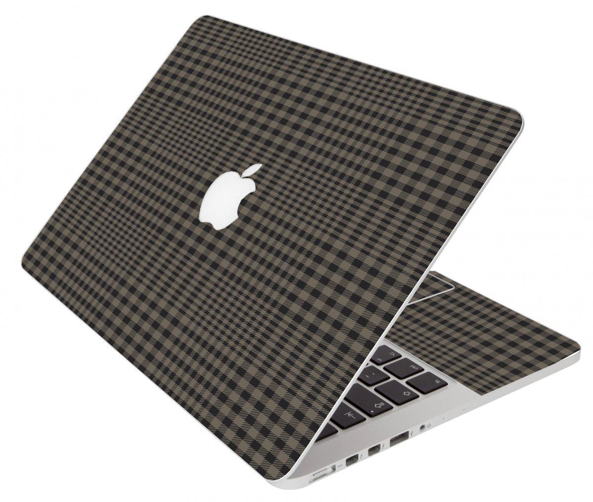Beige Plaid Apple Macbook Original 13 A1181 Laptop Skin