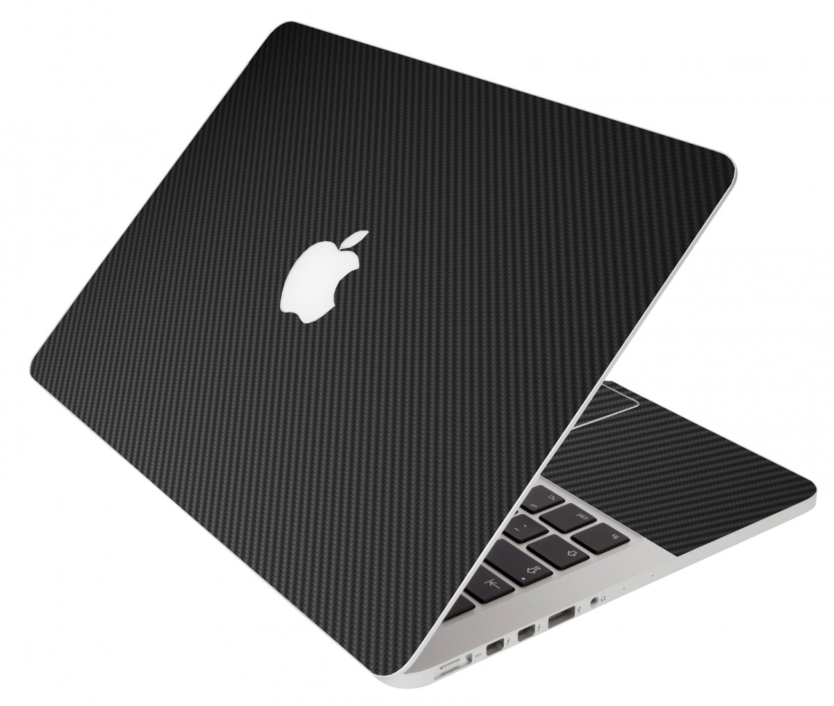 Black Carbon Fiber Apple Macbook Original 13 A1181 Laptop Skin