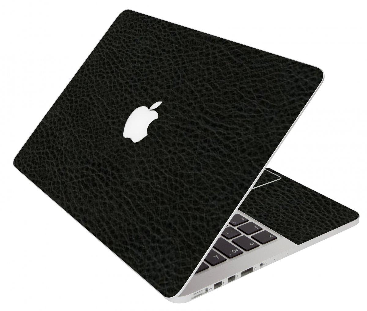 Black Leather Apple Macbook Original 13 A1181 Laptop Skin