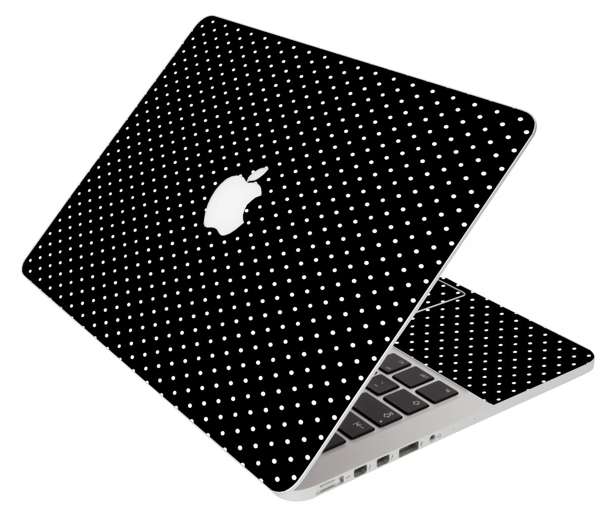 Black Polka Dots Apple Macbook Original 13 A1181 Laptop Skin