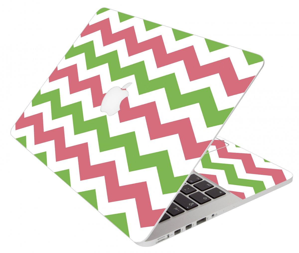 Green Pink Chevron Apple Macbook Original 13 A1181 Laptop Skin