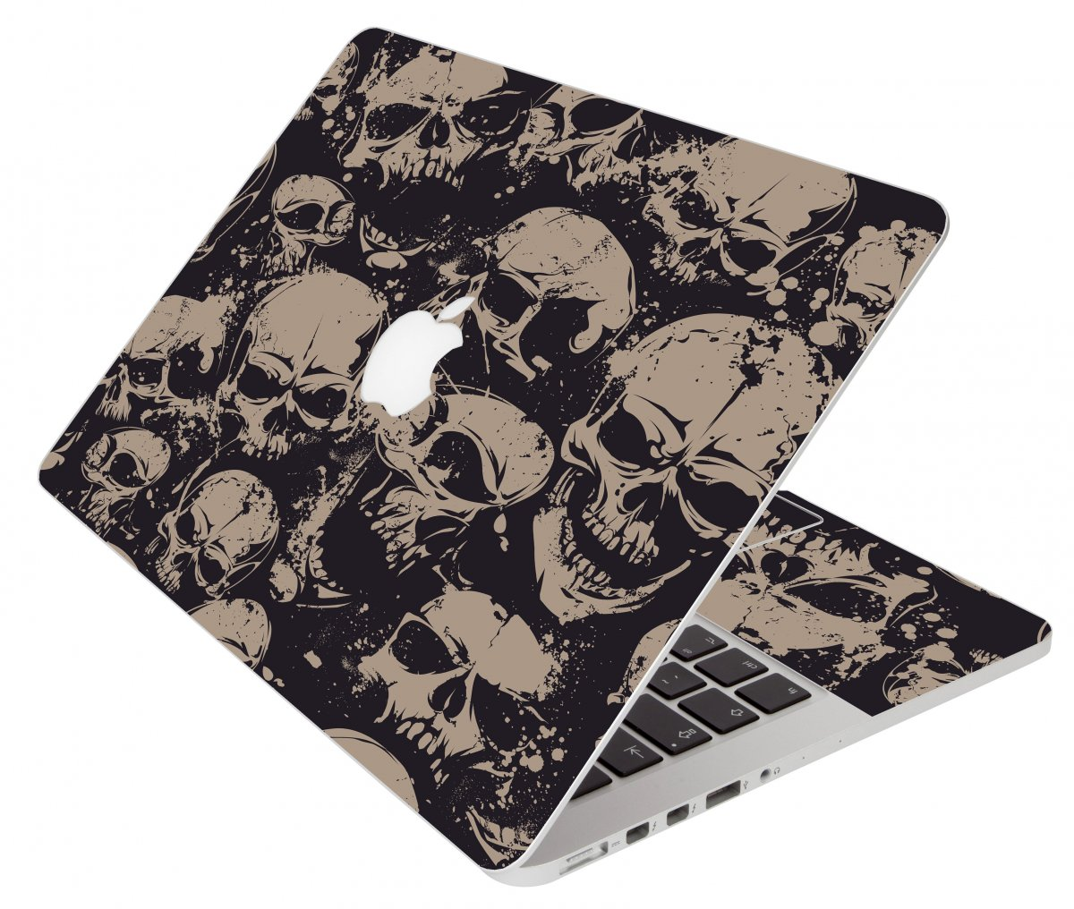 Grunge Skulls Apple Macbook Pro 13 A1278 Laptop Skin