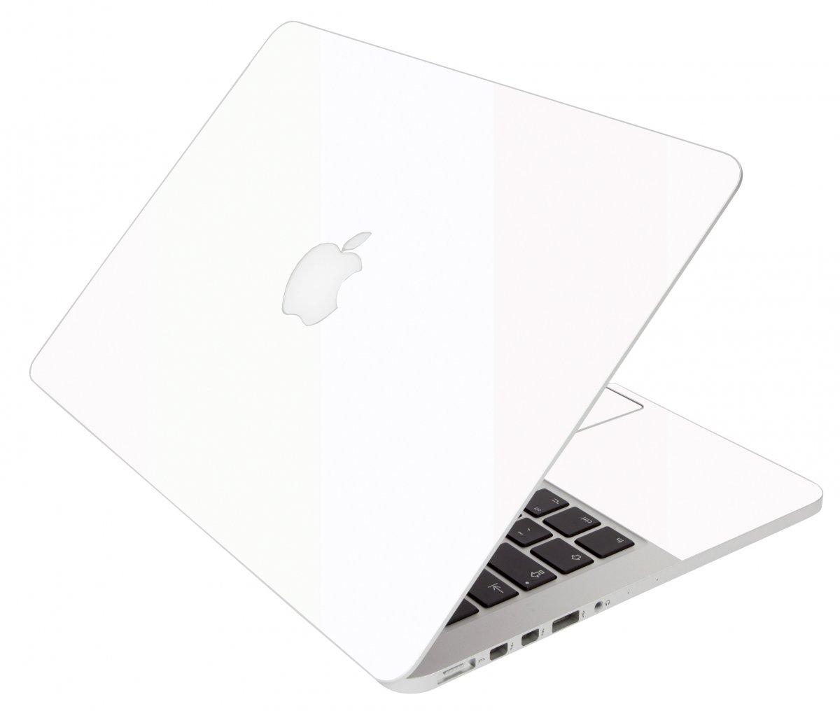 White Apple Macbook Pro 13 A1278 Laptop Skin