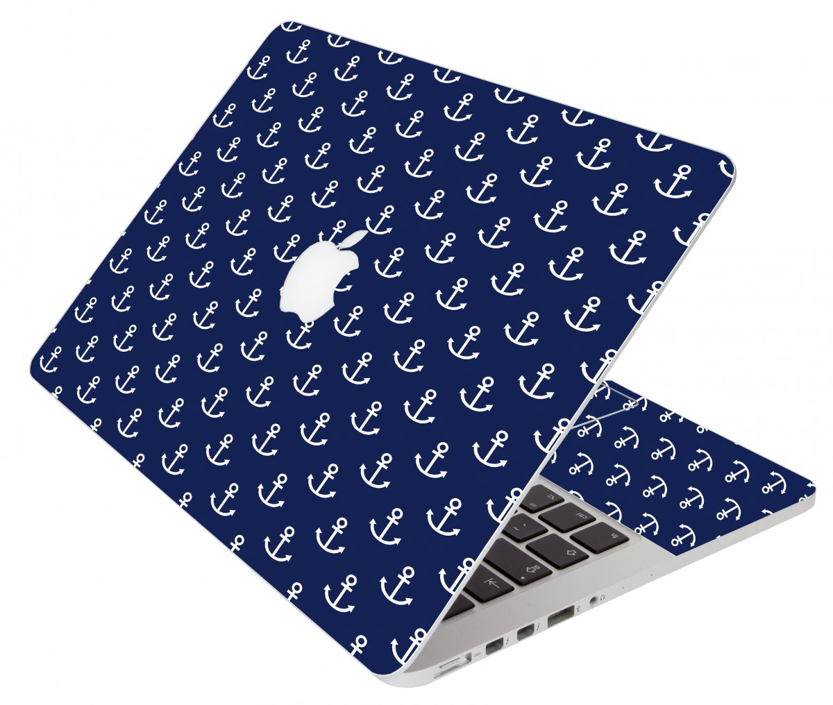 Navy White Anchors Apple Macbook Pro 13 Retina A1502  Laptop Skin