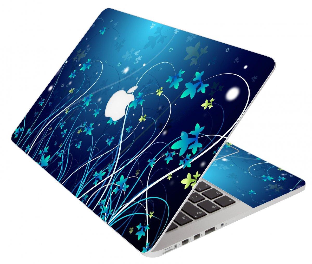 Blue Flower Apple Macbook Pro 15 A1286 Laptop Skin ...