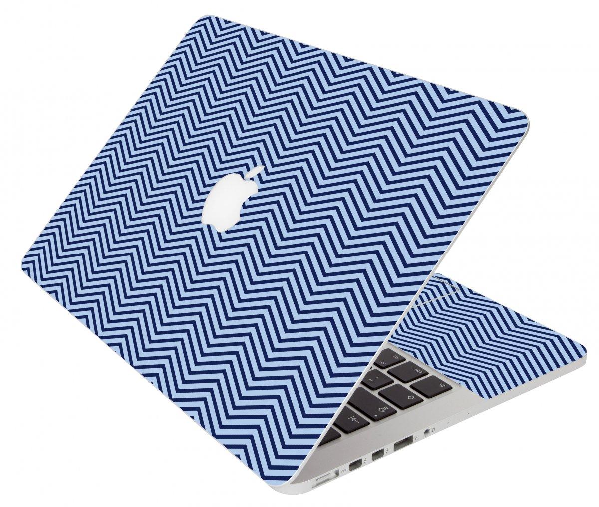 Blue On Blue Chevron Apple Macbook Pro 15 A1286 Laptop Skin