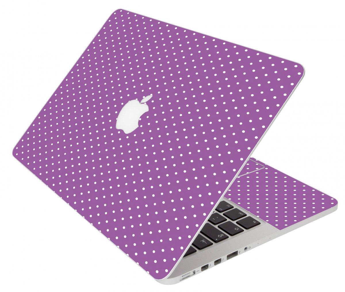 Purple Polka Dot Apple Macbook Pro 15 A1286 Laptop Skin