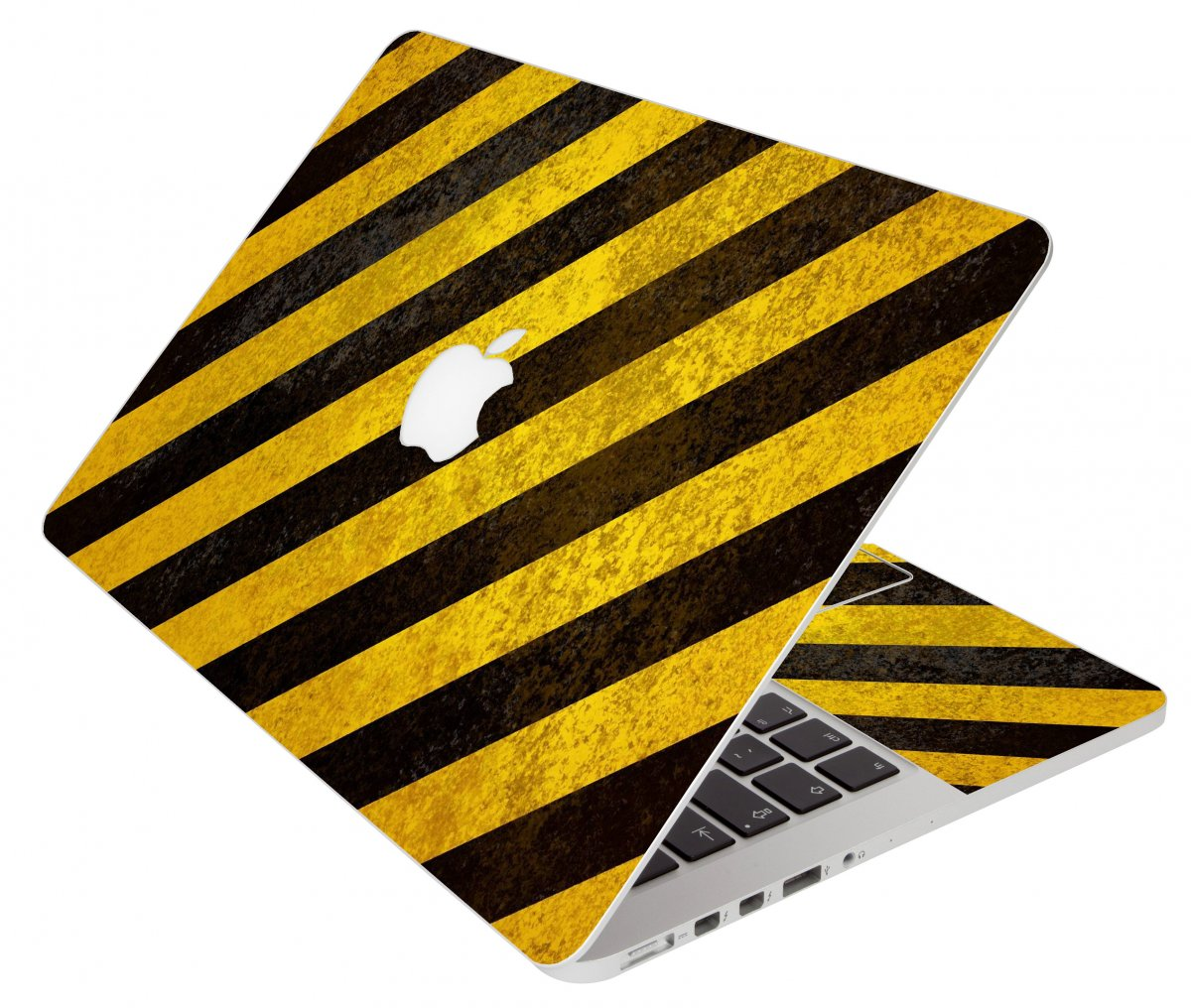 Caution Stripes Apple Macbook Pro 17 A1151 Laptop Skin