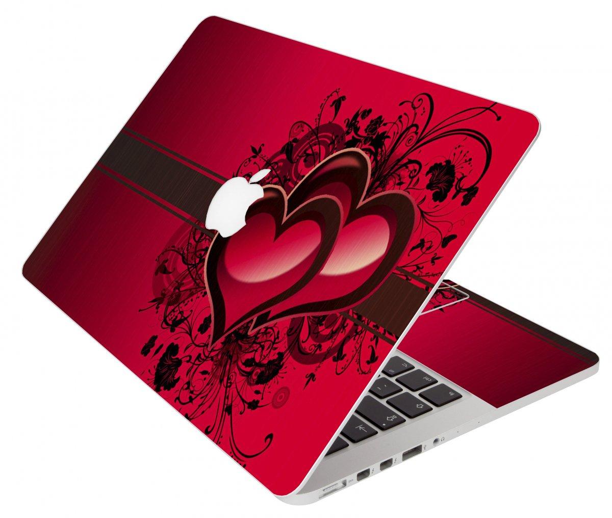Love Heart Apple Macbook Pro 17 A1297 Laptop Skin