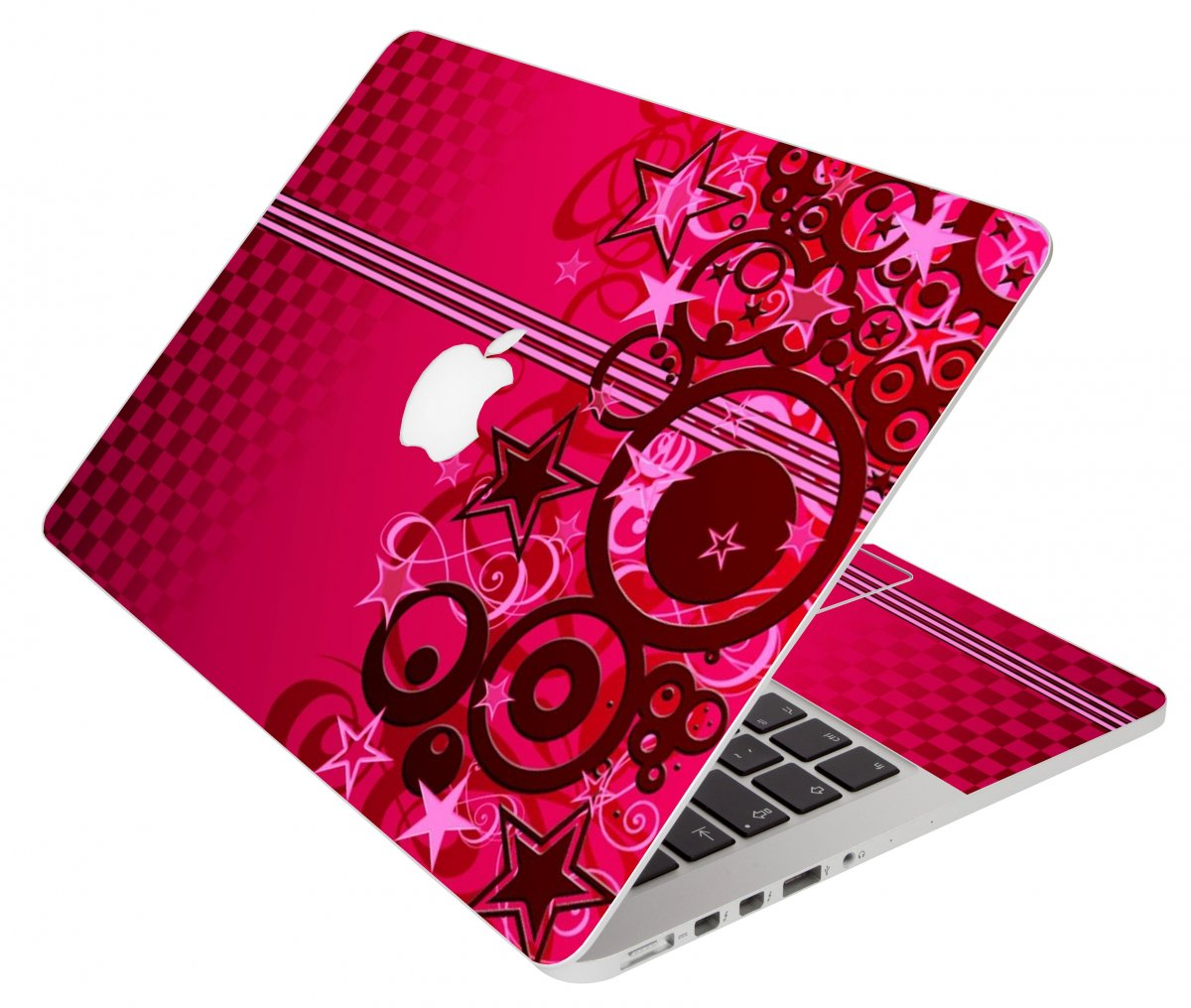 Pink Grunge Stars Apple Macbook Pro 17 A1297 Laptop  Skin