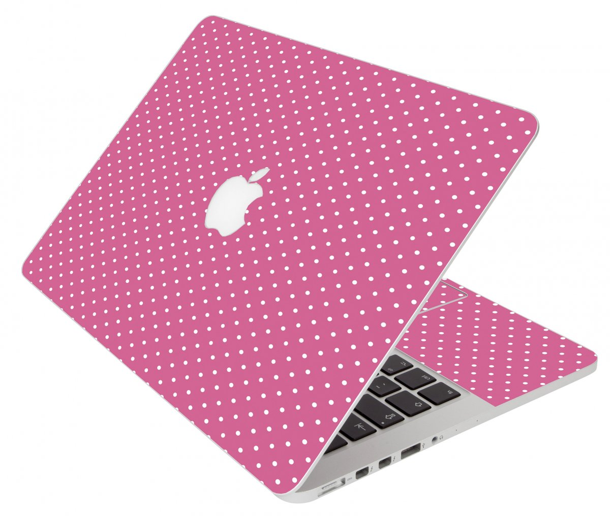 Pink Polka Dot Apple Macbook Pro 17 A1297 Laptop Skin