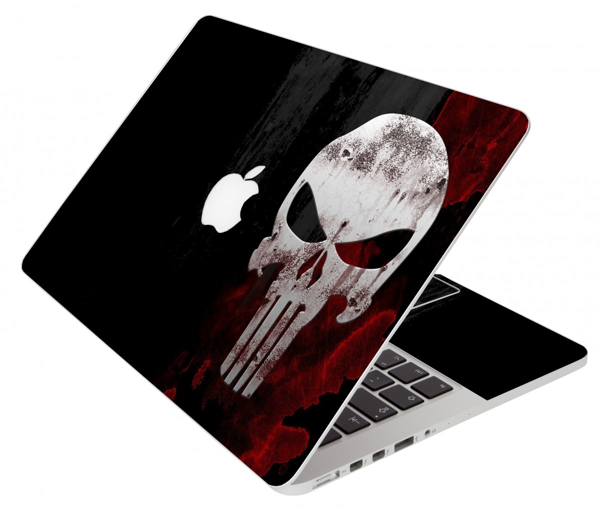 Punisher Skull Apple Macbook Pro 17 A1297 Laptop Skin
