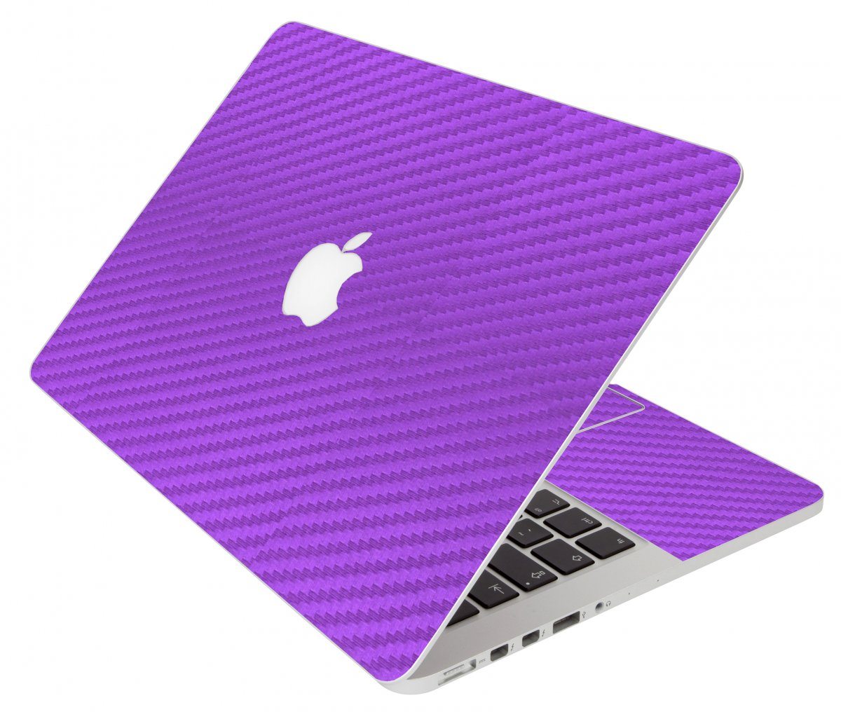 Purple Carbon Fiber Apple Macbook Pro 17 A1297 Laptop  Skin