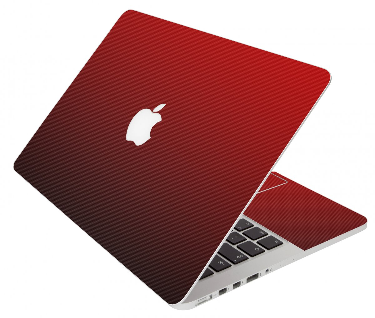Red Carbon Fiber Apple Macbook Pro 17 A1297 Laptop  Skin