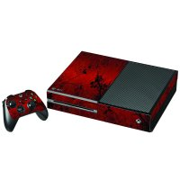 RETRO RED FLOWERS XBOX ONE GAME CONSOLE  SKIN