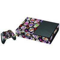 SUGAR SKULLS BLACK FLOWERS XBOX ONE GAME CONSOLE