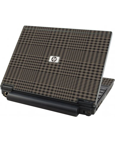 Beige Plaid HP Compaq 2510P Laptop Skin