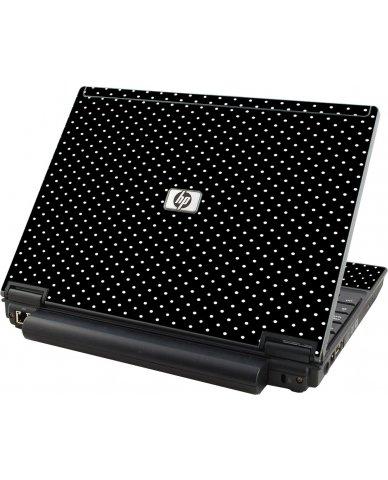 Black Polka Dots HP Compaq 2510P Laptop Skin