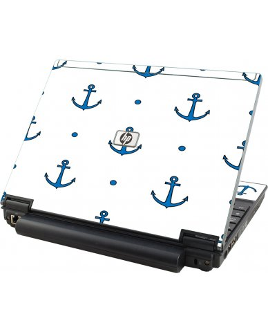 Blue Anchors HP Compaq 2510P Laptop Skin