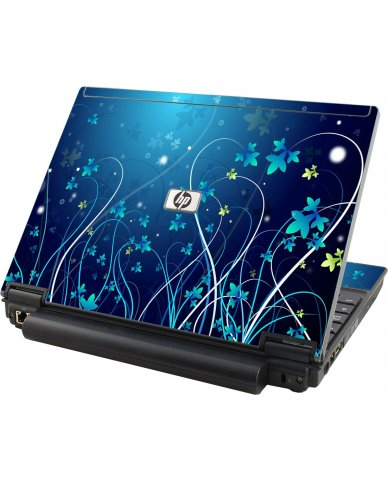 Blue Flowers HP Compaq 2510P Laptop Skin