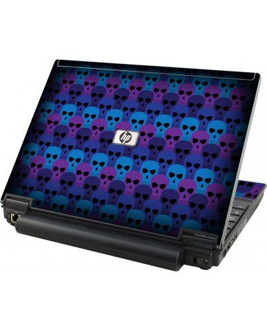 Blue Skulls HP Compaq 2510P Laptop Skin