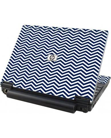 Blue Wavy Chevron HP Compaq 2510P Laptop Skin