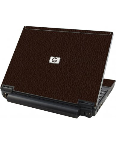 Brown Leather HP Compaq 2510P Laptop Skin