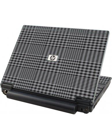 Darkest Grey Plaid HP Compaq 2510P Laptop Skin