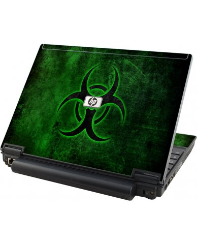 Green Biohazard HP Compaq 2510P Laptop Skin