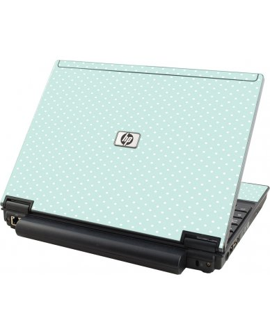 Light Blue Polka HP Compaq 2510P Laptop Skin