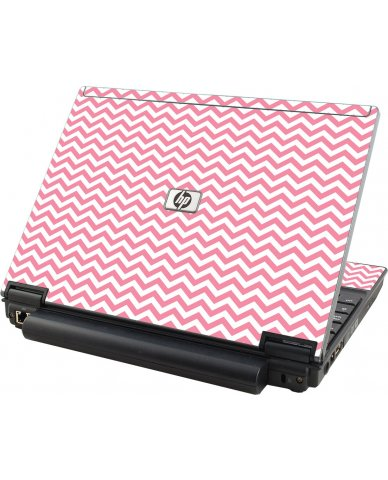 Pink Chevron Waves HP Compaq 2510P Laptop Skin