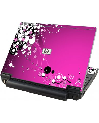 Pink Flowers HP Compaq 2510P Laptop Skin
