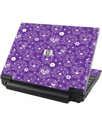 Purple Sugar Skulls HP Compaq 2510P Laptop Skin