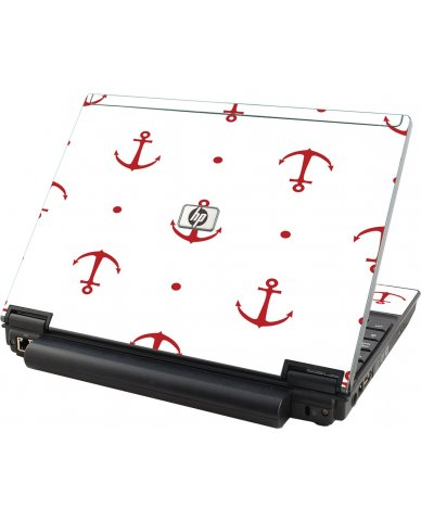Red Anchors HP Compaq 2510P Laptop Skin