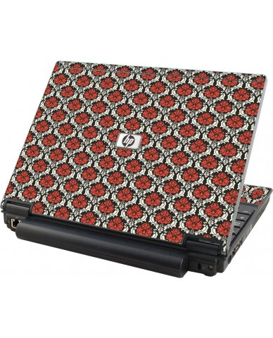 Red Black 5 HP Compaq 2510P Laptop Skin