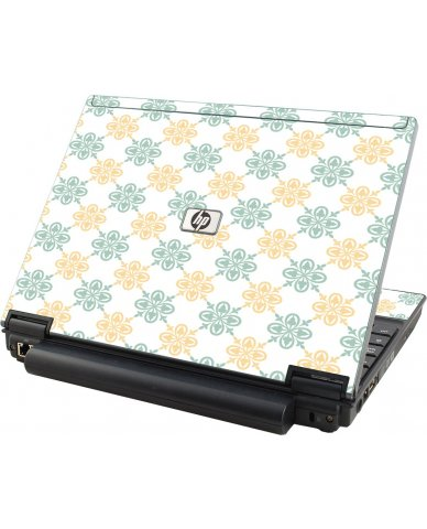 Yellow Green Flowers HP Compaq 2510P Laptop Skin
