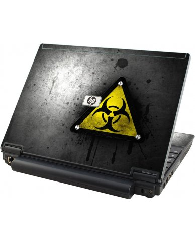 Black Caution HP Elitebook 2530P Laptop Skin