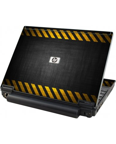 Black Caution Border HP Elitebook 2530P Laptop Skin