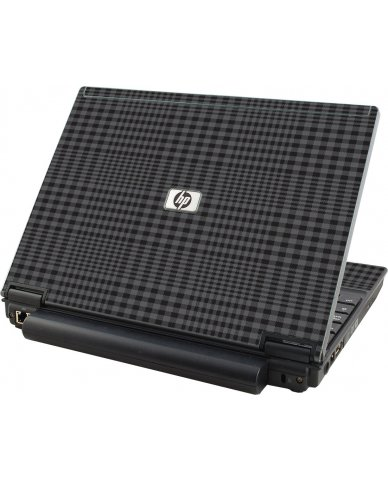 Black Plaid HP Elitebook 2530P Laptop Skin