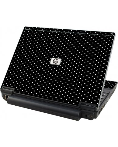 Black Polka Dots HP Elitebook 2530P Laptop Skin
