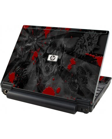Black Skulls Red HP Elitebook 2530P Laptop Skin