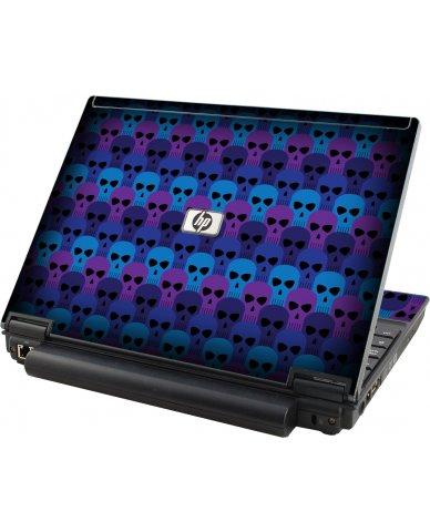 Blue Skulls HP Elitebook 2530P Laptop Skin